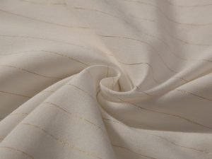 Wholesale high quality rayon crepe 98%rayon 2%metallic stripe lurex fabric for dress
