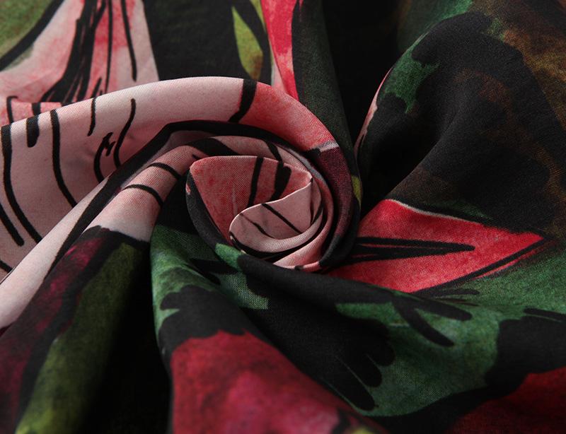 Garment SGS 100GSM viscose rayon printed crepe fabric