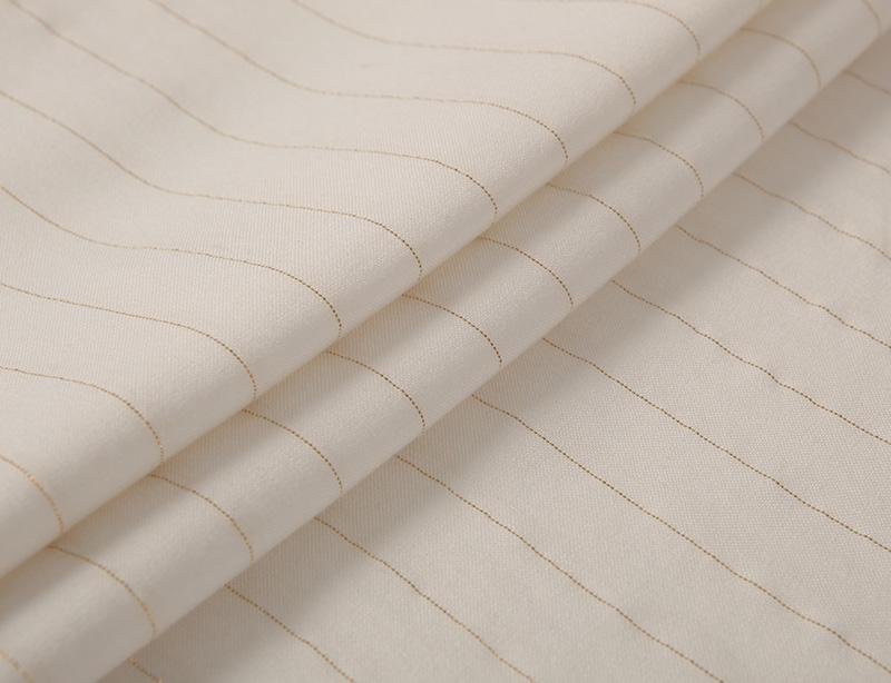 Wholesale high quality rayon crepe 98%rayon 2%metallic stripe lurex fabric for dress